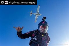 Sharing the sky with your friends.not a bad way to spend the day.from my jump with at on Sunday with Come Skydiving, Calgary, Sunday, Explore, Superhero, Portrait, Friends, Artist, Travel