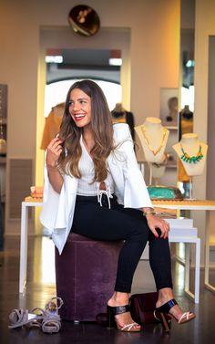 Paula Ordovas en La Roca Village eligiendo sus 10 zapatos favoritos