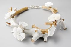 Terhi Tolvanen, Couronne Nacre, 2009, mother of pearl, polyester, wood, paint, silver, 20cm
