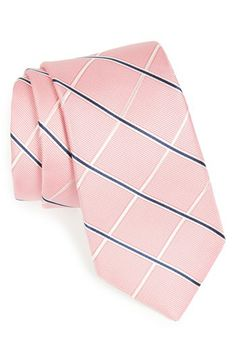 Nordstrom Woven Silk Tie in Pink; also nice. (And among things I never thought I'd be wondering: Why don't they make pale pink dress socks for men?!)