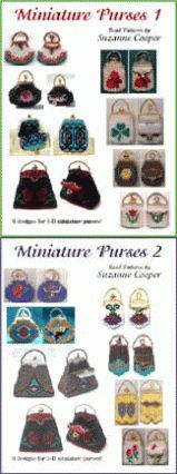Miniature Purses Bead Patterns (eBook) at Bead-Patterns.com