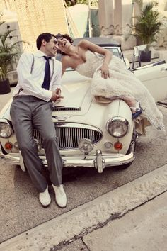 Just Married Cars Vintage And Wedding