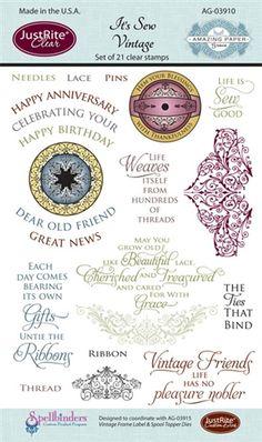 It's Sew Vintage October 2012 Exclusive Stamp Set designed by Becca Feeken