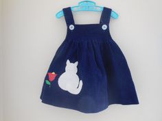Size 12  18 months  Vintage Infant Girl  Blue by LittleMarin,