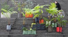 Collection jardinières en tissu à suspendre ou poser pour potager sur balcon Barsac. Nouveauté de l'année, les jardinières en couleurs