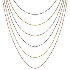 6 layered tri colored Italian necklace Shane company