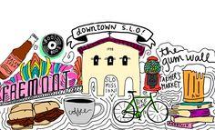 Snapchat Geofilter for Downtown San Luis Obispo on Behance