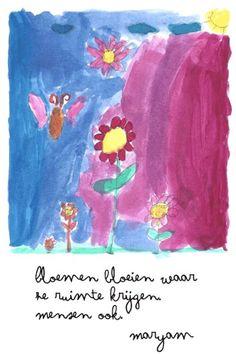 Getekend door Meryem ( kind van een vluchteling )