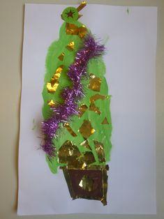 kerstboom verven en versieren