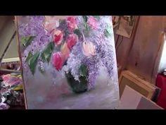 """Мастер-класс Игоря Сахарова """"Букет. Тюльпаны и сирень"""" - YouTube"""