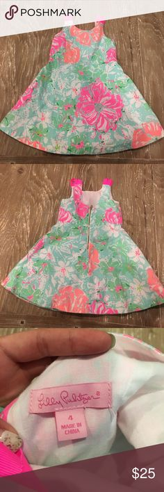Super cute Lilly dress Adorable dress and super cute color from Lilly Pulitzer. Have a great condition:) Lilly Pulitzer Dresses Casual