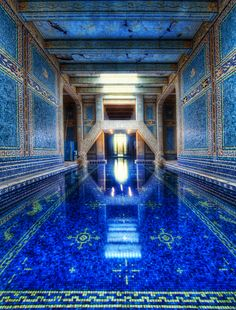 The Azure Blue Indoor Pool at Hearst Castle.
