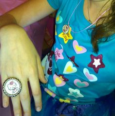 they made HELLO KITTY  ring and necklace..
