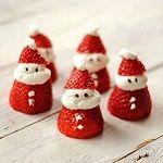 Kerstman aardbei met slagroom