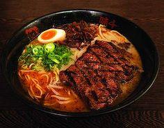 Beef ramen at Ajisen Ramen.