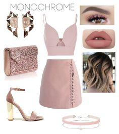"""""""Pink"""" by dolcejaquelin on Polyvore featuring River Island, Chicwish, Steve Madden, Jimmy Choo, Nak Armstrong and Miss Selfridge"""