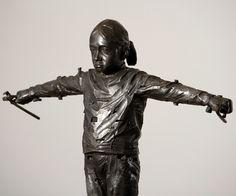 Gehard Demetz - Contemporary Artist - Bronze Sculpture - 2009 - One Day. ART - Gehard Demetz✖️More Pins Like This One At FOSTERGINGER @ Pinterest✖️