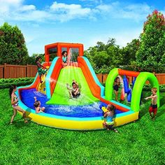 Sporting Goods Outdoor Holiday Inflatables Summit Pool Water Park And Slide Adventure Splash Inflation Toys For Kids Backyard Games - Skroutz Backyard Playground, Backyard For Kids, Backyard Games, Inflatable Island, Inflatable Water Park, Blow Up Water Slide, Water Slides, Banzai Water Slide, Water Pool Games