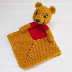 Winnie the Pooh Lovey link in bio #winniethepooh  #crochetbear #lovey…