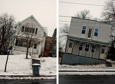 Leaning Houses in Minnesota Photographed by Cameron Wittig