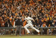 The best photos of the 2014 San Francisco Giants - Morse on a solo homer in the 8th inning during Game 5 of the NLCS.