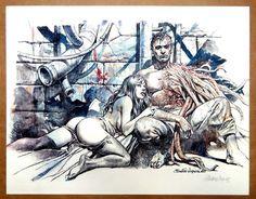 Serpieri, Paolo Eleuteri - Druuna - gesigneerde prent - W. Serpieri, Science Fiction Series, Fantasy Comics, Female Images, Comic Artist, Popular Culture, Erotic, Comic Books, Drawings