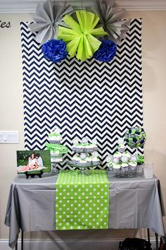 Alligator Baby Shower - Navy and Green