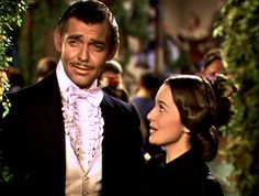 """""""Clark Gable was highly professional. He was a bigger star than we can create today. I was just a mini-star when we did """"Gone With The Wind."""" I was afraid to talk to him. People can't understand it now, but we were in awe. Clark Gable didn't open supermarkets"""" - Olivia de Havilland."""
