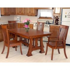 Amish Kitchen Table and Chairs . Amish Kitchen Table and Chairs . Cheap Dining Room Sets, Oak Dining Room Set, Dining Room Furniture Sets, Dining Table With Bench, Trestle Dining Tables, Walnut Dining Table, Dining Chairs, Amish Furniture, Kitchen Tables