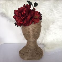 Giant Red Cabbage Rose with Red Apples and Burgundy Berries Floral Wreath / Flower Girl / Hair Flowers / Bridesmaid / Fake Flowers by FauxFloralCo on Etsy https://www.etsy.com/au/listing/479803927/giant-red-cabbage-rose-with-red-apples