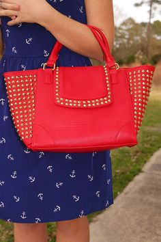 Looking For A Stud Purse: Red #shophopes