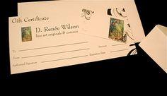 Gift Certificates for Original & Custom Art by D. Renée Wilson