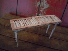 Miniature Dollhouse Garden Reclaimed Table Shabby by AMarigoldLife
