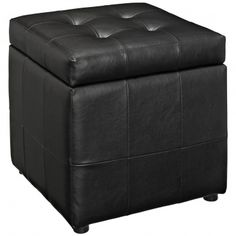 Watt Storage Ottoman In Black