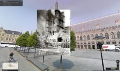 First world war in Google Street View
