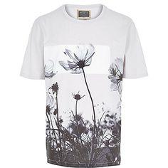 T-shirt Holloway Road grège à fleurs