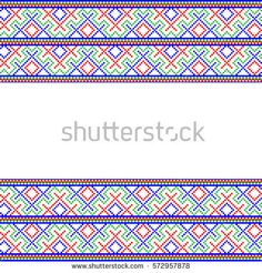 Seamless pattrern with a national ornament on a white background. Vector illustration, EPS10.