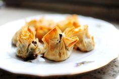 Phyllo Mushroom Bundles-- easy appetizers that taste great!