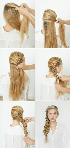 Different Braids Tutorials Braids - a relatively new word among modern stylish hairstyles. Salons offer customers not only variations on the theme a l. , 45 Cute Different Braids Tutorials That Are Perfect For Any Occasion Braided Hairstyles Tutorials, Pretty Hairstyles, Easy Hairstyles, Stylish Hairstyles, Wedding Hairstyles, Latest Hairstyles, Braid Hair Tutorials, Hairstyle Ideas, Summer Hair Tutorials