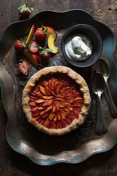 Strawberry and Nectarine Galette | Bakers Royale