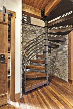 Home Decoration With Paper Craft Spiral Stairs Design, Spiral Staircase, Staircase Design, Stairs To Heaven, Rustic Loft, Bungalow Renovation, Interior Stairs, House Stairs, Iron Doors