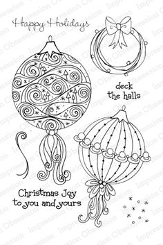 Impression Obsession Fancy Ornaments - Clear Stamp Set