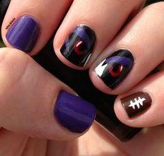 Baltimore Ravens Nails - I want this!