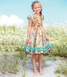 Rainbow Butterflies Dress [ babyme.cc ]