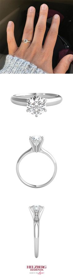 This 1 CT solitaire sure is a stunner!   #Helzberg #wedding #engagement #diamond #fashion