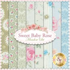 Sweet Baby Rose  8 FQ Set - Meadow Set by Dover Hill for Benartex Fabrics