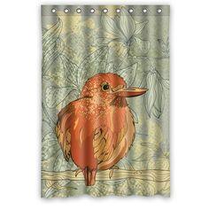"""Immagine generici e altri uccelli e fiori Disegno Bagno Doccia Tenda personalizzata Shower Curtain 48 """"x 72"""": Amazon.it: Casa e cucina"""