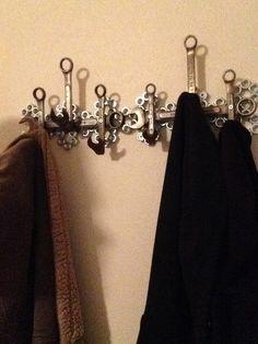 DIY manly coat rack with gorilla metal glue