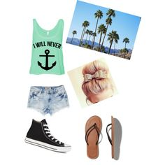 A Casual Summer Day by avacartwright on Polyvore featuring polyvore, fashion, style, Converse, Abercrombie & Fitch and H&M