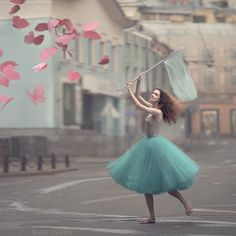 paper butterflies catcher by anka zhuravleva - Fine Photography by Anka Zhuravleva   <3